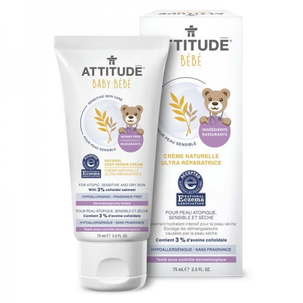 Sensitive Skin Baby Natural Crema reparatorie (75 ml), Attitude