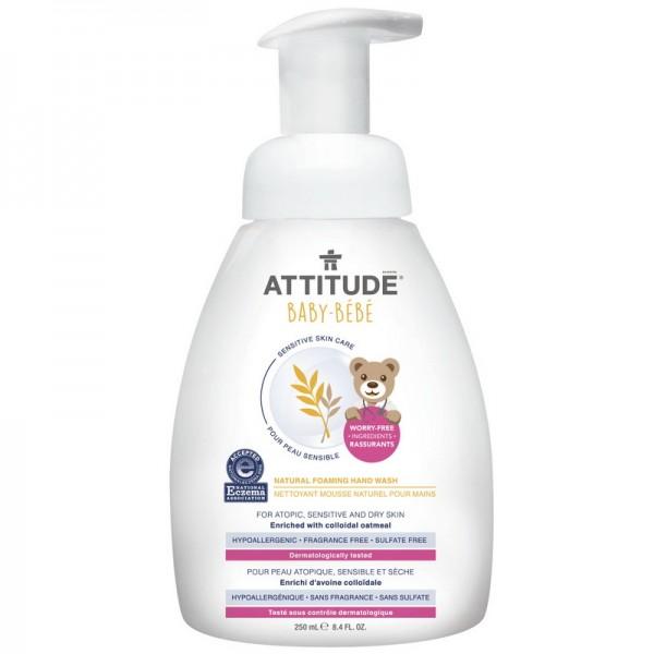 Sensitive Skin Baby Natural Spuma de maini (250 ml), Attitude
