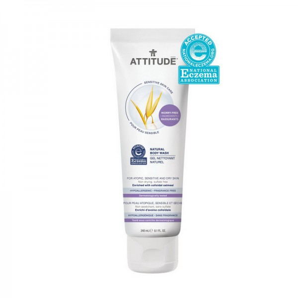 Sensitive Natural Gel de dus (240 ml), Attitude