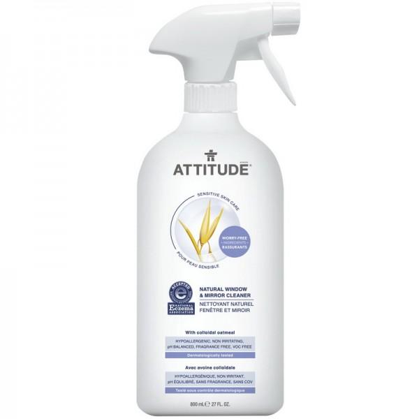 Sensitive Skin Natural Solutie de curatat geamuri si oglinzi (800 ml), Attitude