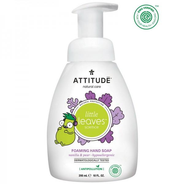 Sapun lichid de maini pentru copii, spuma, vanilie si pere (295 ml), Attitude