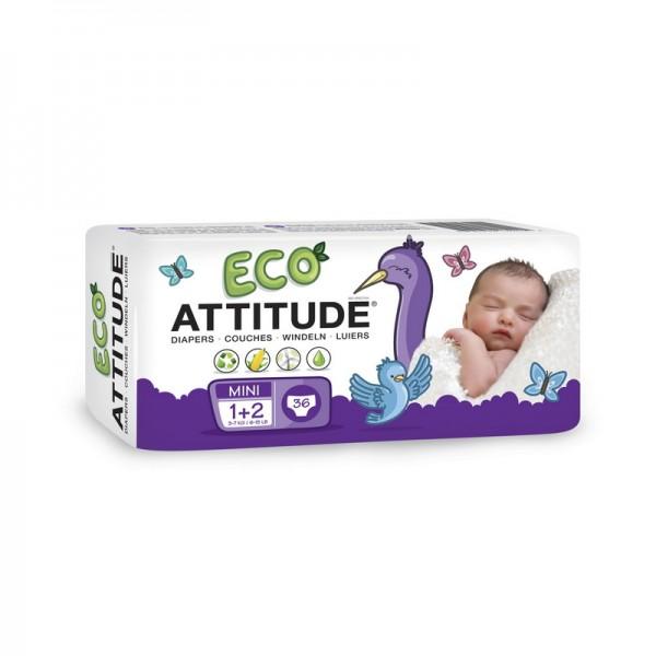 Scutece ecologice de unica folosinta marime 1-2 (3-7kg) (36 bucati), Attitude