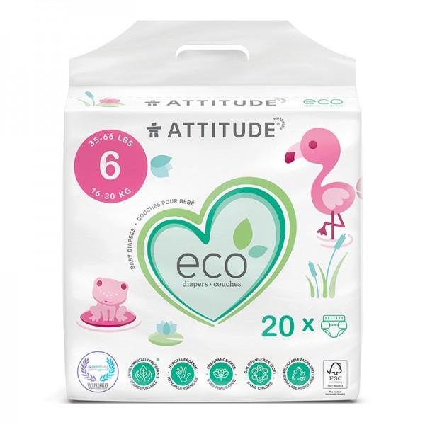 Scutece ecologice de unica folosinta marimea 6 (16-30kg) (20 bucati), Attitude