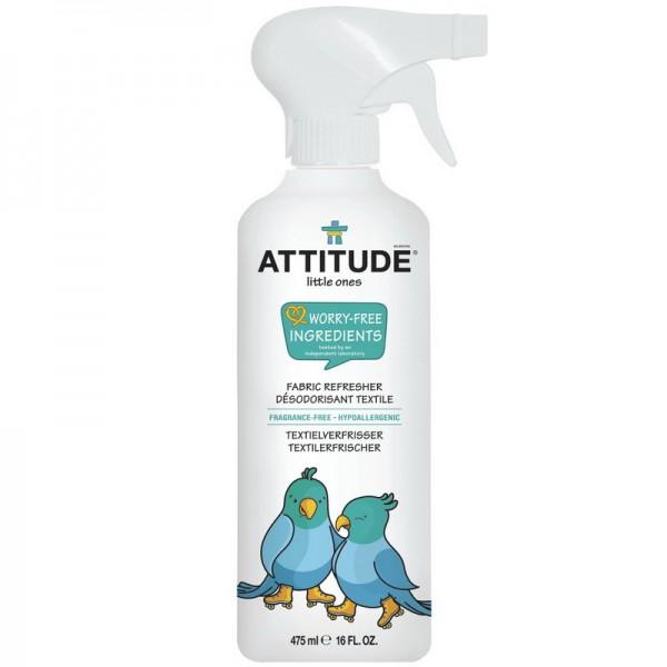 Solutie de reimprospatare si eliminarea mirosurilor, fara parfum (475 ml), Attitude