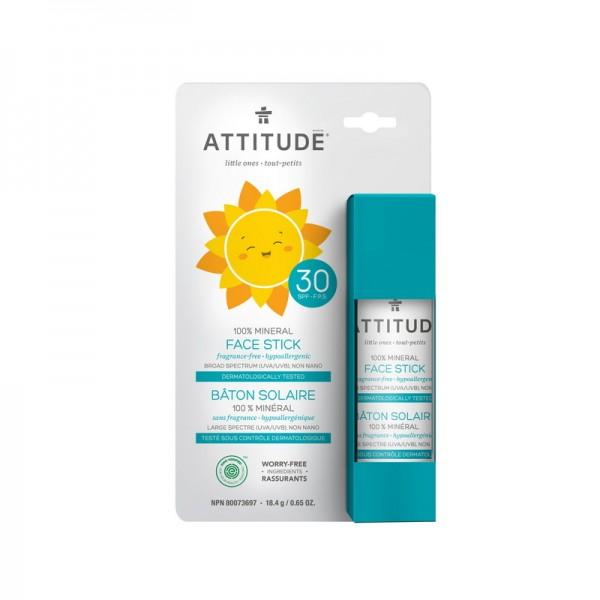 Stick pentru protectia fetei, SPF 30 (18,4 grame), Attitude