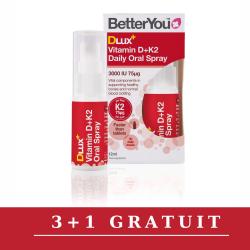 Promo 3+1 Gratuit DLux+ Vitamin D3+K2 Oral Spray (12ml), BetterYou