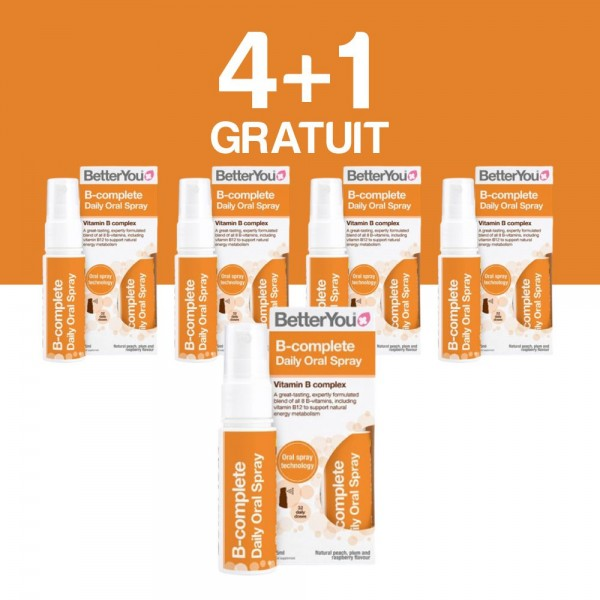 4+1 GRATUIT B-Complete Oral Spray (25ml), BetterYou