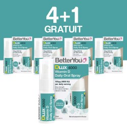 4+1 GRATUIT DLux 4000 Vitamin D Oral Spray (15 ml), BetterYou