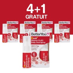 4+1 GRATUIT DLux+ Vitamin D3+K2 Oral Spray (12ml), BetterYou