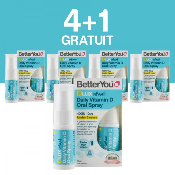 4+1 GRATUIT DLux infant Vitamin D Oral Spray (15ml), BetterYou