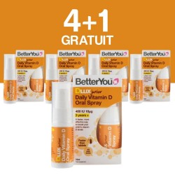 4+1 GRATUIT DLux Junior Vitamin D Oral Spray (15ml), BetterYou