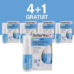 4+1 GRATUIT DLux 1000 Vitamin D Oral Spray (15ml), BetterYou