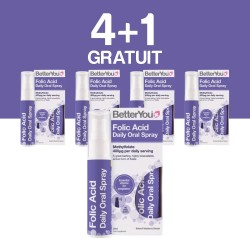 4+1 GRATUIT Folic Acid Oral Spray (25ml), BetterYou