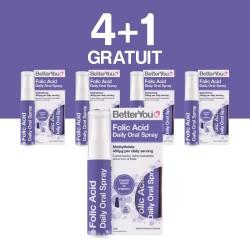 4+1 GRATUIT Folic Acid Oral Spray (25ml), BetterYou