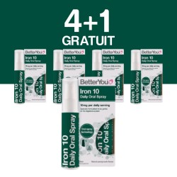 4+1 GRATUIT Iron 10 Oral Spray (25ml), BetterYou