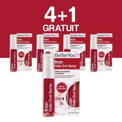 4+1 GRATUIT Iron Oral Spray (25ml), BetterYou