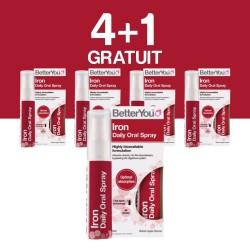 4+1 GRATUIT Iron Oral Spray (25ml), BetterYou