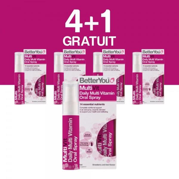 4+1 GRATUIT Multivit Oral Spray (25ml), BetterYou