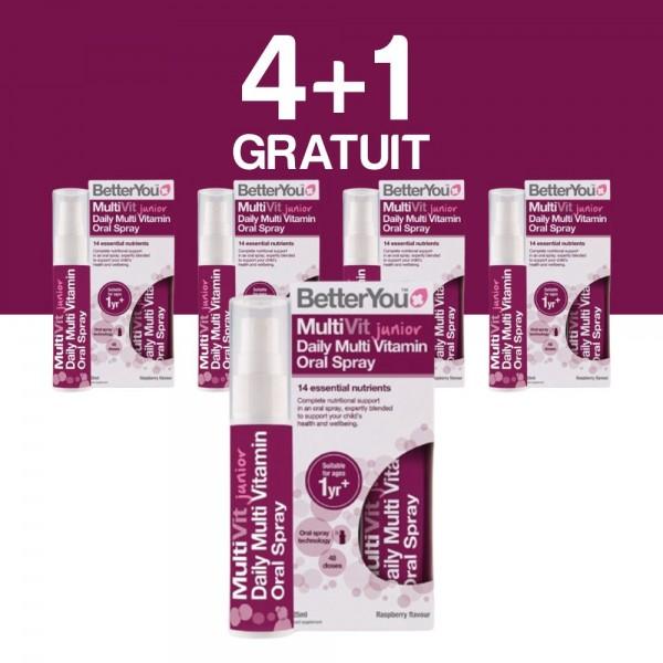 4+1 GRATUIT Multivit Junior Oral Spray (25ml), BetterYou