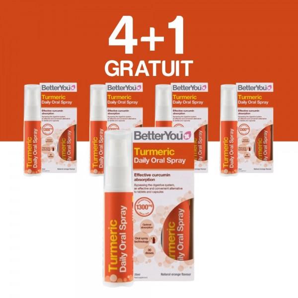 4+1 GRATUIT Turmeric Oral Spray (25ml), BetterYou