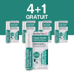 4+1 GRATUIT Vegan Health Oral Spray (25ml), BetterYou