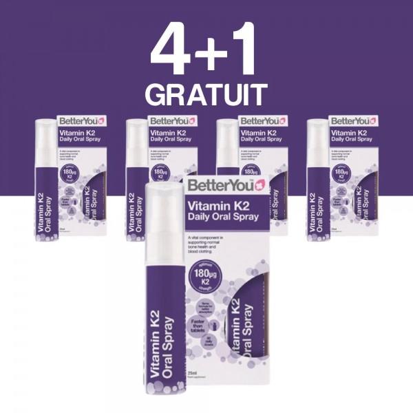 4+1 GRATUIT Vitamin K2 Oral Spray (25ml), BetterYou