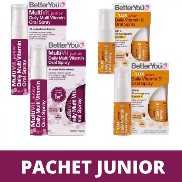 Pachet Junior (Multivit Junior si Dlux Junior), BetterYou