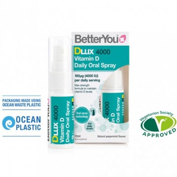 Dlux 4000 Vitamin D Oral Spray (15 ml), BetterYou