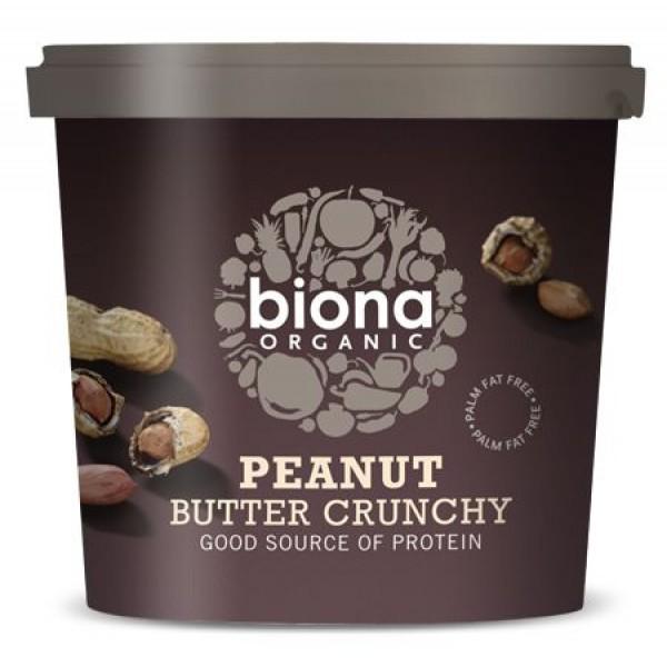 Unt de arahide crunchy cu sare bio (1 kg), Biona