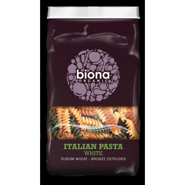 Fusilli tricolore din grau dur bio (500 grame), Biona