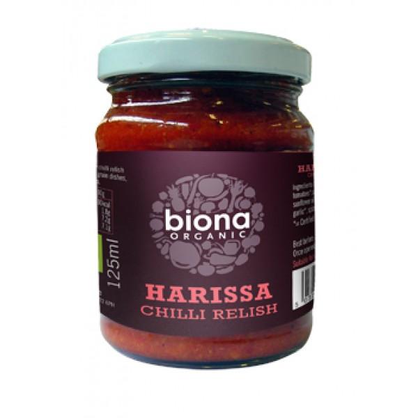 Sos chilli harissa bio (125 grame), Biona