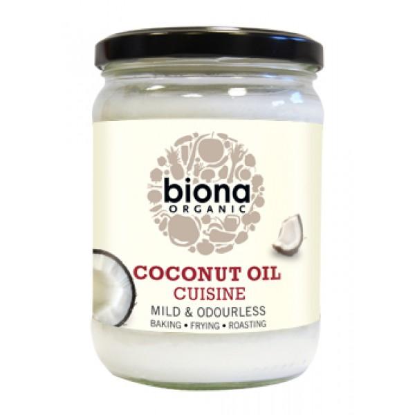 Ulei de cocos dezodorizat pt. gatit bio (470 grame), Biona