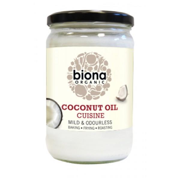 Ulei de cocos dezodorizat pt. gatit bio (610 grame), Biona