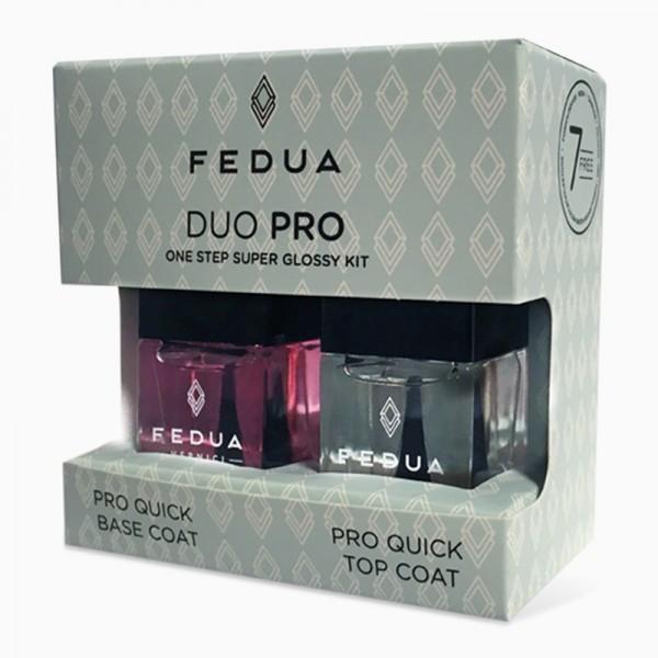 Duo Pro Kit Unghii (Base Coat- Top Coat), Fedua
