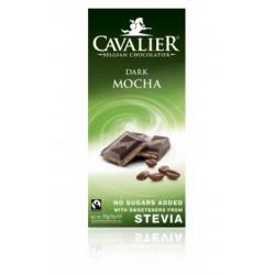 Ciocolata neagra belgiana cu crema de cafea (85 grame), Cavalier