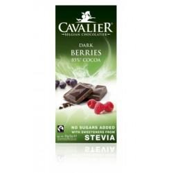 Ciocolata neagra belgiana cu fructe de padure (85 grame), Cavalier