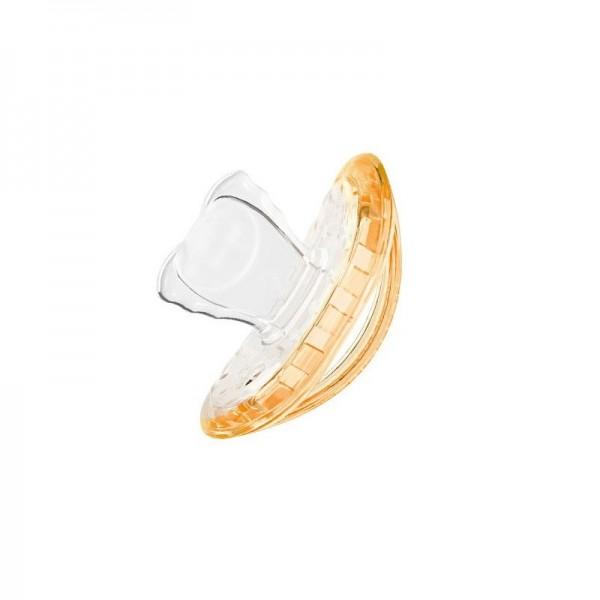 Suzeta Ortodontica Orange pentru copii intre 0 si 7 luni, Curaprox