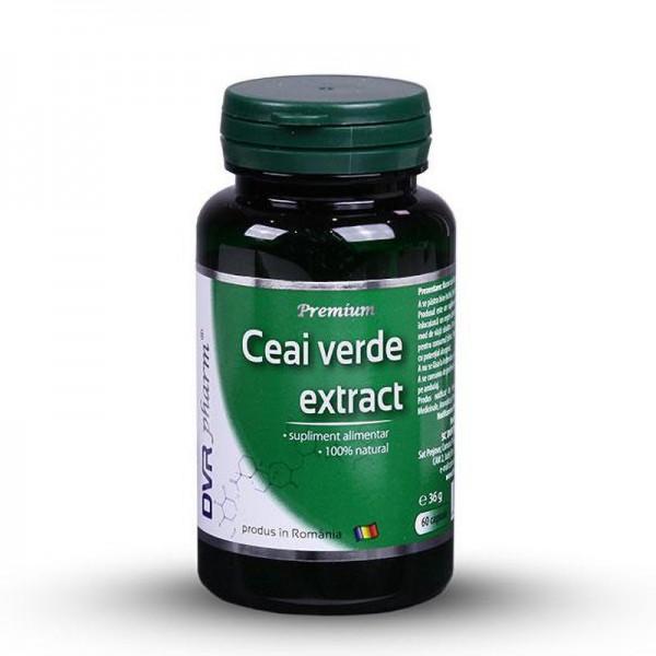 Ceai verde extract (60 de capsule), DVR Pharm