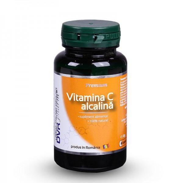Vitamina C alcalina (60 capsule), DVR Pharm