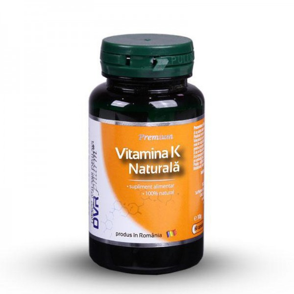 Vitamina K naturala (60 capsule), DVR Pharm