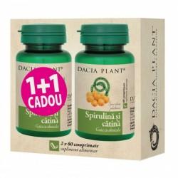 Promo Spirulina si catina ( 60 comprimate) 1+1 Gratuit, Dacia Plant