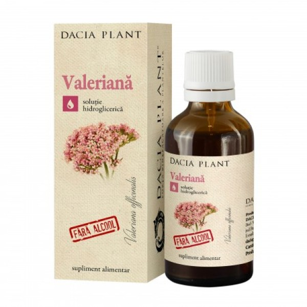 Tinctura de valeriana fara alcool (50 ml), Dacia Plant