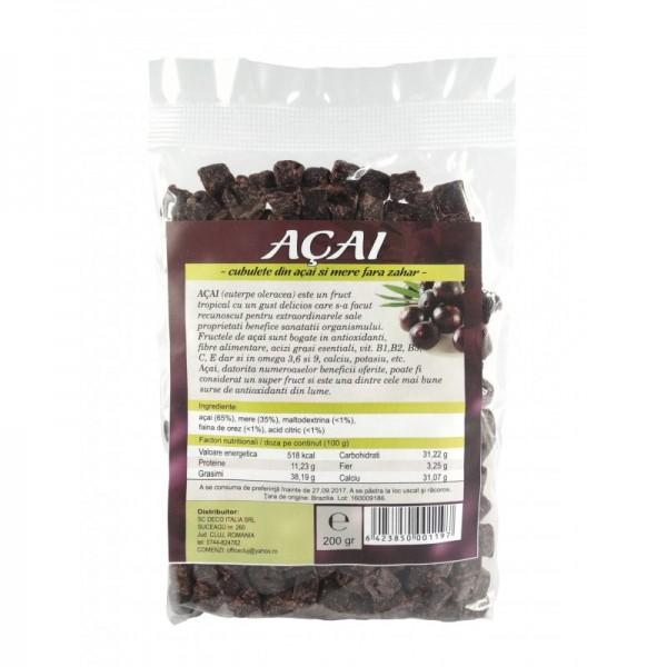 Fructe uscate acai si mar cuburi (200 grame)