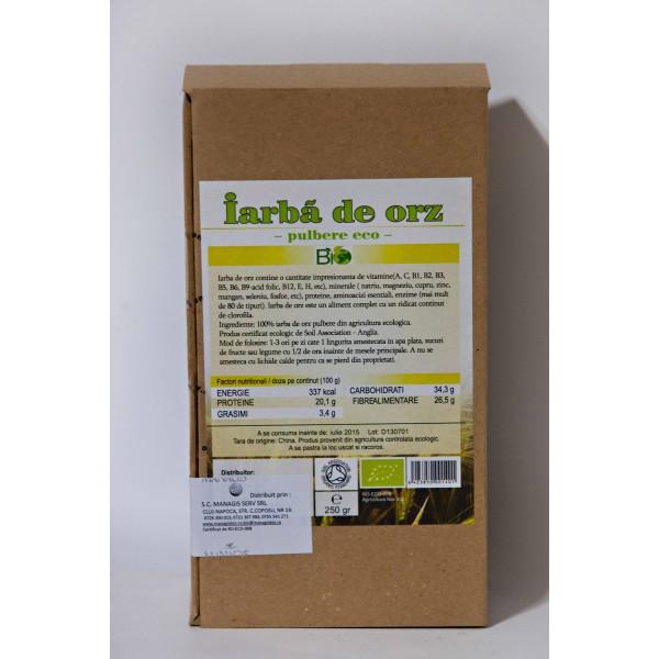 Iarba de orz bio pudra (125 grame)