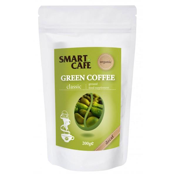 Cafea verde arabica macinata, decofeinizata bio (200 grame), Dragon Superfoods