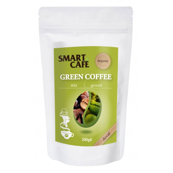 Cafea verde arabica macinata, decofeinizata + cofea prajita bio (200 grame), Dragon Superfoods