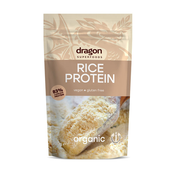 Pudra proteica din orez bio (200 grame), Dragon Superfoods