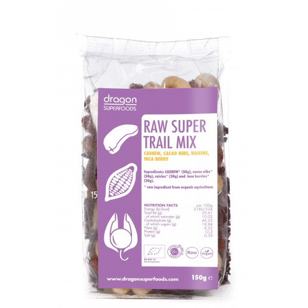 Super mix raw (incan berry, caju, miez boabe cacao) bio (150 grame), Dragon Superfoods