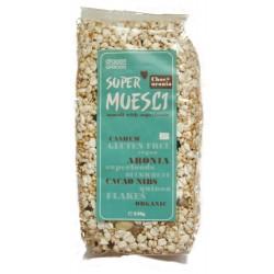 Supermuesli cu aronia si miez de cacao bio (250 grame), Dragon Superfoods