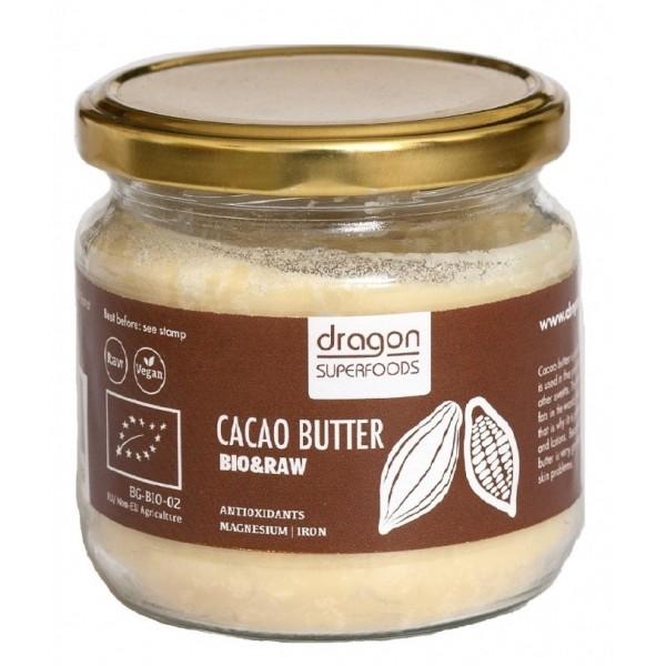 Unt de cacao raw criollo bio (100 g), Dragon Superfoods